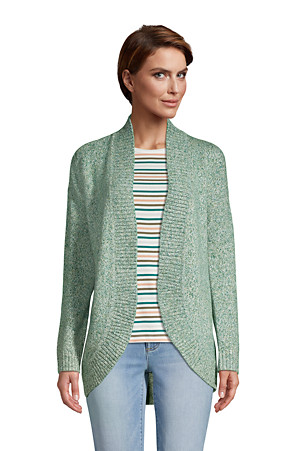 Women's Long Sleeve Cocoon Cardigan | Lands' End