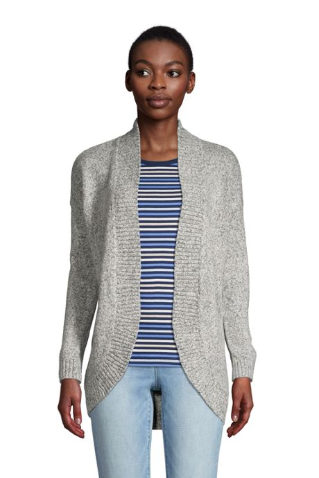 Women's Long Sleeve Cocoon Cardigan