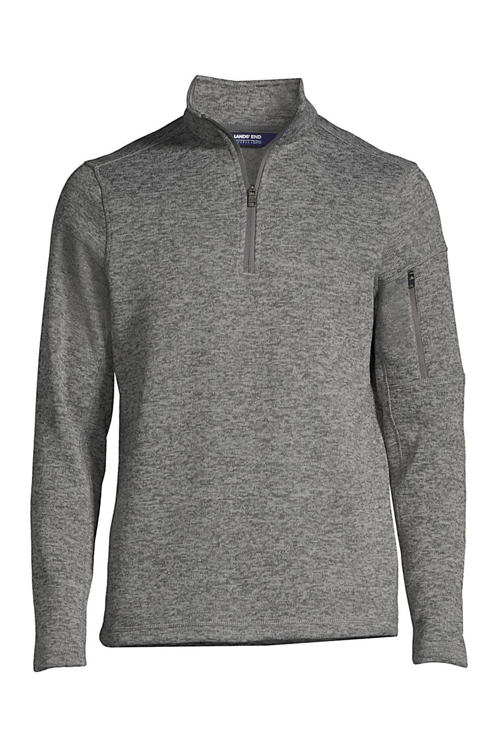 Lands End Mens Sweater Fleece Quarter Zip Pullover (various colors/sizes)