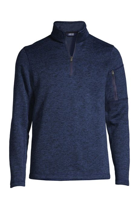 Men's Sweater Fleece Quarter Zip Pullover
