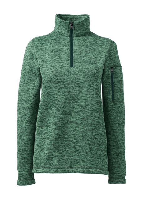 Women's Custom Embroidered Sweater Fleece Quarter Zip Pullover