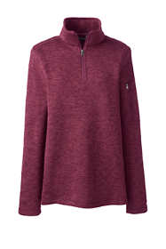 Women's Sweater Fleece Quarter Zip Pullover