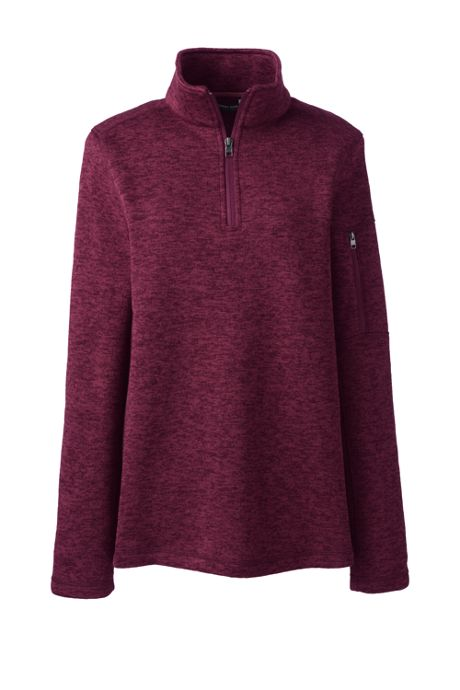 Women's Plus Size Sweater Fleece Quarter Zip Pullover