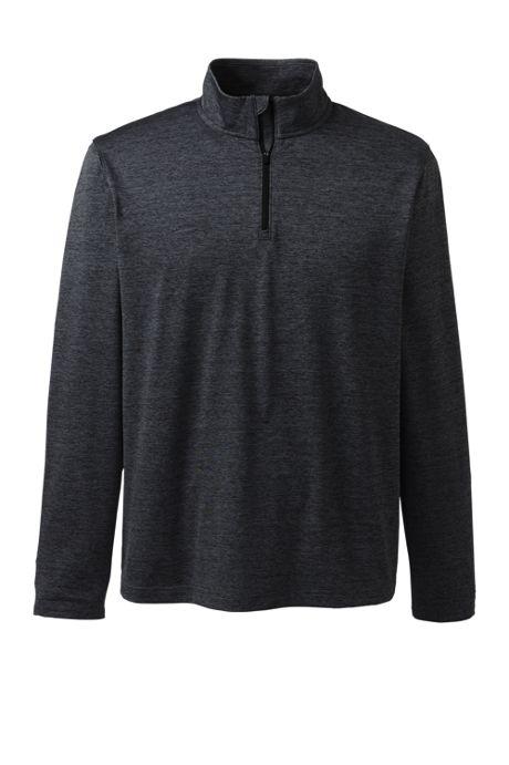 Unisex Rapid Dry Space Dye Quarter Zip Pullover Shirt