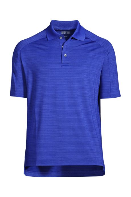 Men's Rapid Dry Tonal Stripe Polo Shirt