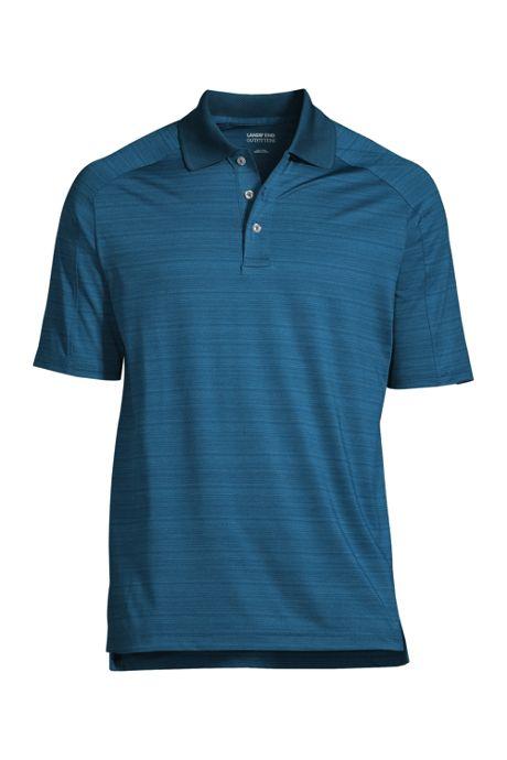 Men's Rapid Dry Tonal Stripe Polo Shirt