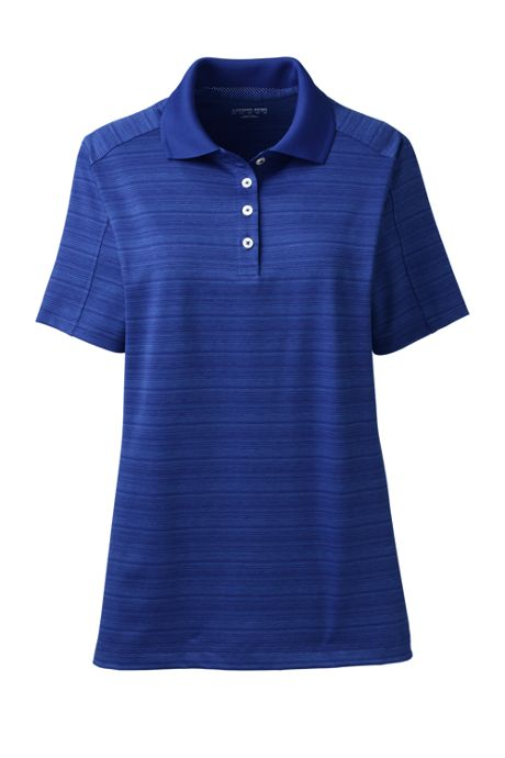 Women's Rapid Dry Tonal Stripe Polo Shirt