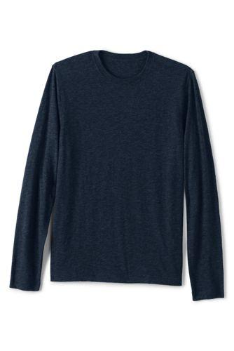 T-Shirt en Jersey Flammé à Manches Longues, Homme Stature Standard