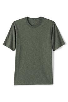 T-Shirt en Jersey Flammé à Manches Courtes, Homme