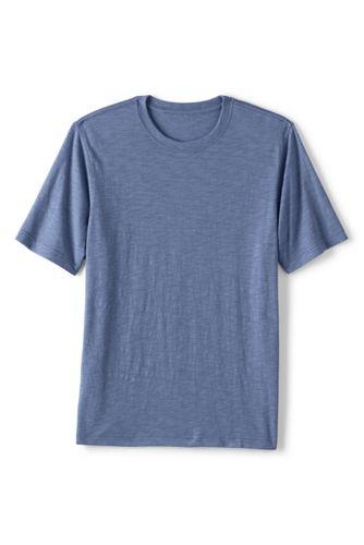 T-Shirt en Jersey Flammé à Manches Courtes, Homme Stature Standard
