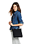 Gesteppte Canvas-Umhängetasche mit Reißverschluss für Damen