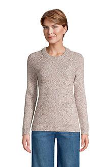 Rundhals-Pullover im Baumwollmix für Damen
