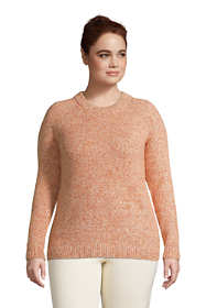 Women's Plus Size Raglan Sleeve Crew Neck Sweater