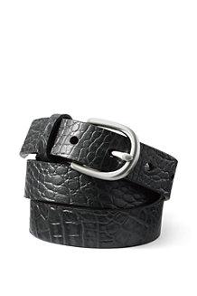 Women's Crocodile Embossed Classic Leather Belt