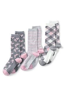 Gemusterte Socken im 3er-Pack für Damen