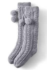 Women's Chenille Cable Knit House Slipper Socks