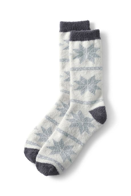 Women's Fuzzy Slipper Crew Socks