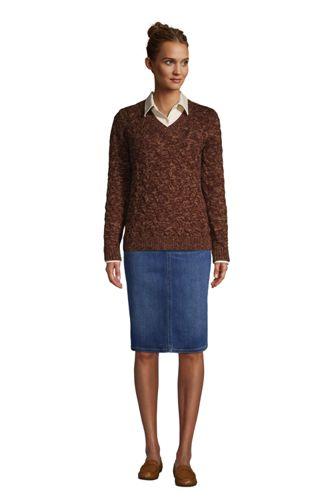 Women's Tall Cotton Drifter V-Neck Sweater