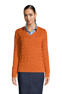 Pull Drifter Col V Pur Coton, Femme