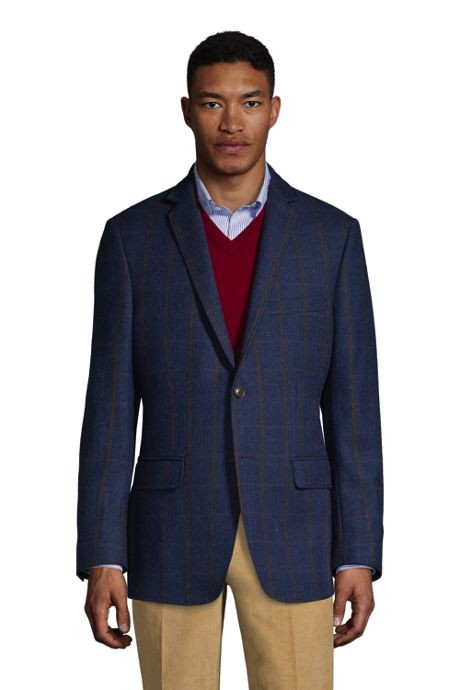 Men's Traditional Fit Wool Pattern Sport Coat