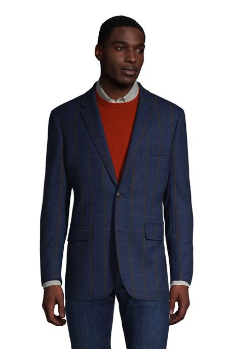 Men's Tailored Fit Wool Pattern Sport Coat