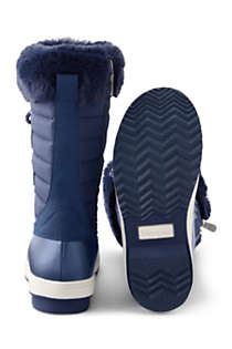 Girls Insulated Quilted Snow Boots, alternative image