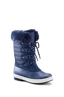 Girls Insulated Quilted Snow Boots, Front