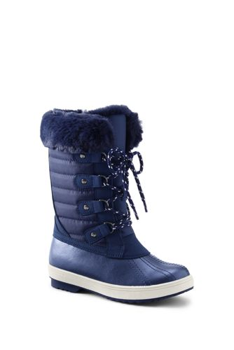 Girls Insulated Quilted Snow Boots
