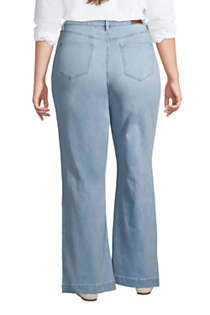 Lands/' End taupe jeans womens plus size 20 sleek high waist vintage 90/'s jeans