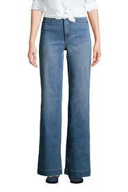 Women's High Rise Wide Leg Blue Jeans
