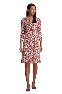 Women's Twist Front Fit & Flare Wrap Dress