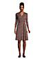 Gemustertes Jersey-Wickelkleid mit 3/4-Ärmeln für Damen in Plus-Größe
