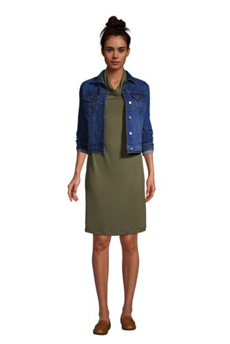 Women's Super Soft 3/4 Sleeve Cowl Neck Dress