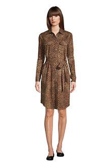 Women's Cotton Modal Long Sleeve Shirt Dress
