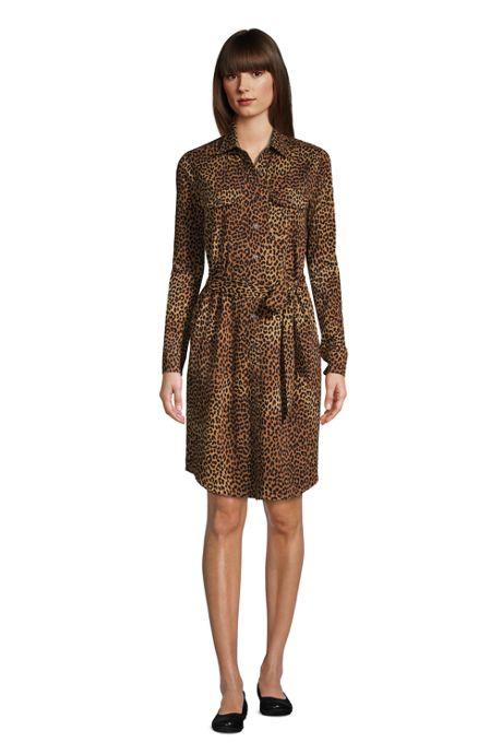Women's Tall Cotton Modal Jersey Button Front Dress