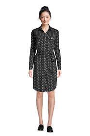 Women's Cotton Modal Jersey Button Front Dress