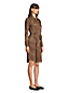 Women's Petite Cotton Modal Long Sleeve Shirt Dress