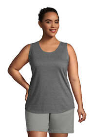 Women's Plus Size Supima Cotton Scoop Neck Tunic Tank Top