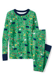 Boys Pattern Snug Fit Pajama Set