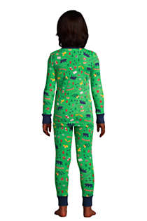 Boys Pattern Snug Fit Pajama Set, Back