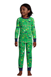 Boys Pattern Snug Fit Pajama Set, Front