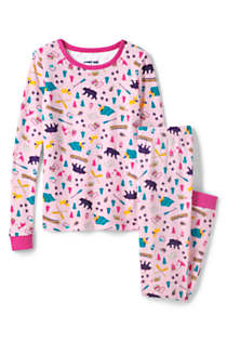 Toddler Girls Pattern Snug Fit Pajama Set, Front