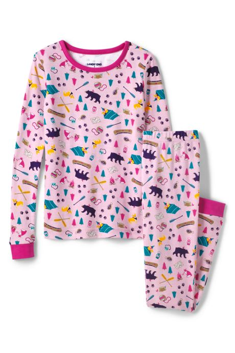 Toddler Girls Pattern Snug Fit Pajama Set