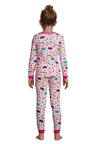 Girls Pattern Snug Fit Pajama Set