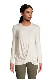 Women's Super Soft Long Sleeve Twist Hem Top