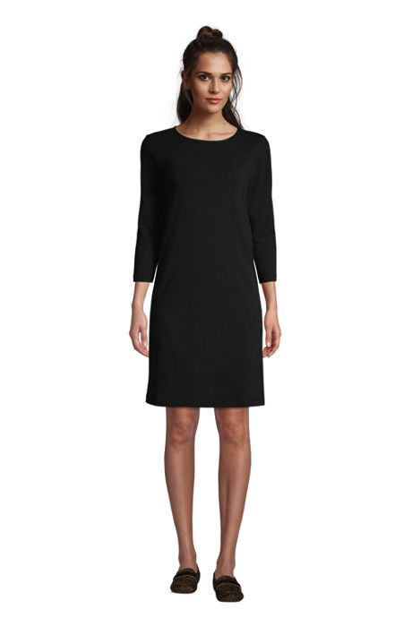 Women's Cotton Blend 3/4 Sleeve T-Shirt Dress