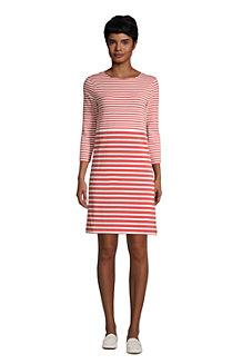 Baumwoll-Shirtkleid mit 3/4-Ärmeln für Damen