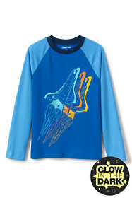 Boys Long Sleeve Glow in the Dark Raglan Graphic Tee