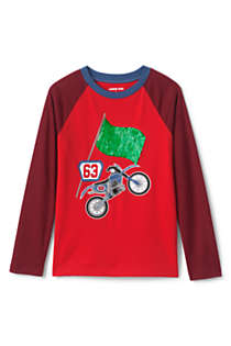 Boys Husky Long Sleeve Flip Sequin Raglan Graphic Tee, alternative image