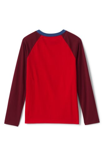 Little Boys Long Sleeve Flip Sequin Raglan Graphic Tee